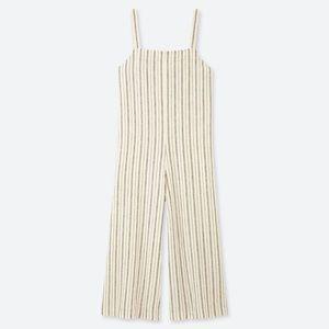 UNIQLO Striped Linen Jumpsuit